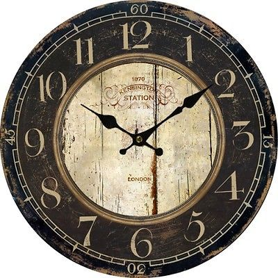 european country vintage style analog antique wall clock home decor m large us