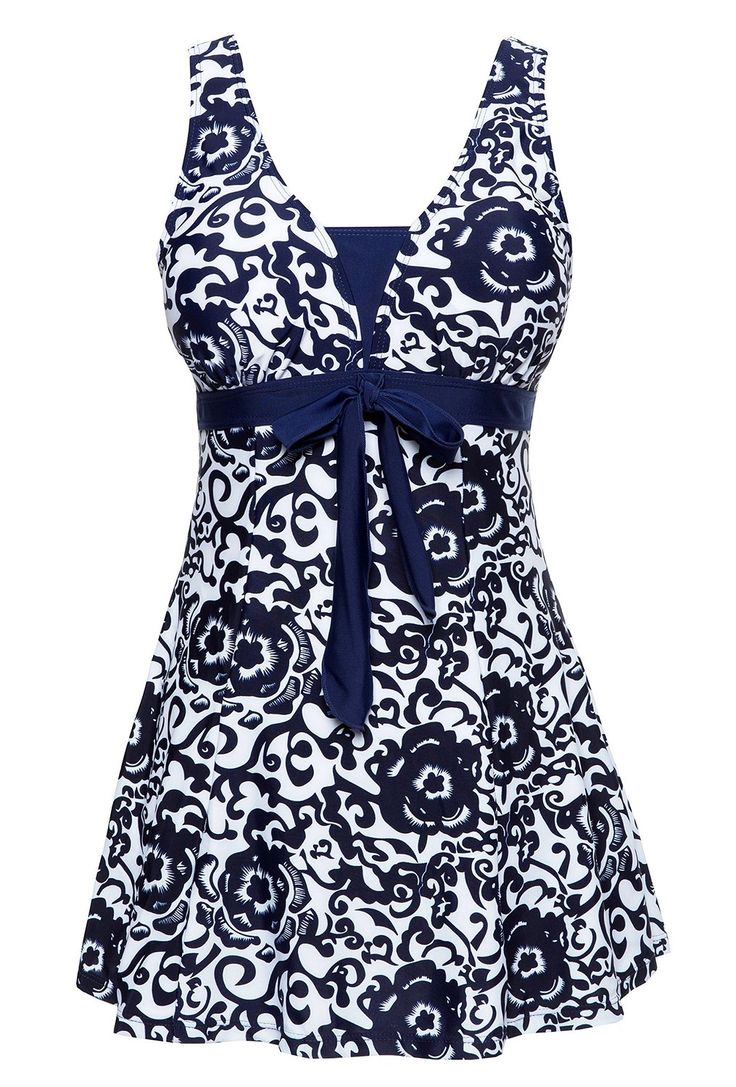 WantDo Women's Swimsuit Plus Size Swimwear One-Piece Bathing Suit(FBA) at Amazon Women's Clothing store: