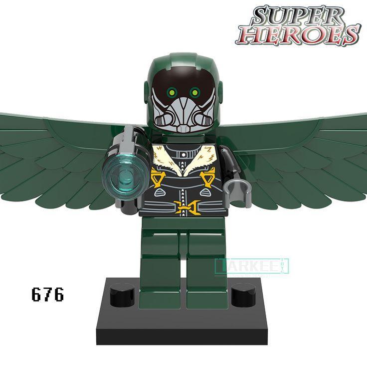 Educational Blocks Figures Vulture Marvel Avengers Deadpool Star Wars Super Heroes Bricks Kids DIY Toys Hobbies XINH 676 #Affiliate
