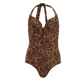 Linga Dore Animal Print Swimming Costume