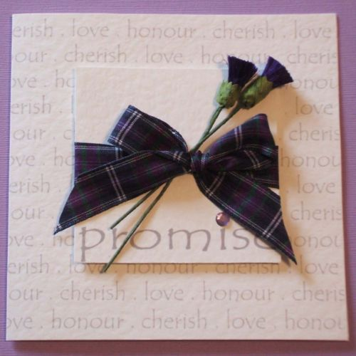 SCOTTISH WEDDING INVITATION - Tartan & Thistles