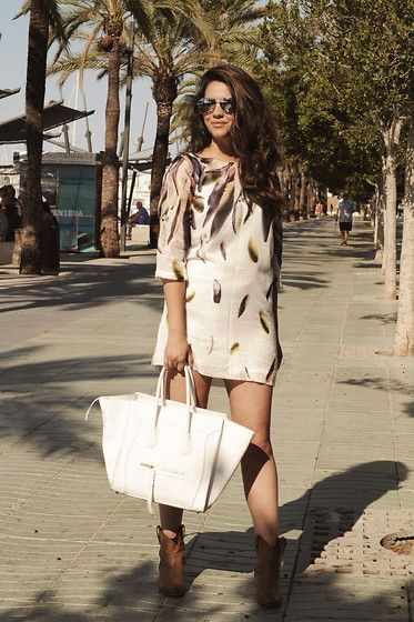 Get this look: http://lb.nu/look/7579486  More looks by Stephanie Abu-Sbeih: http://lb.nu/satisfashionblog  Items in this look:  Loavies Bag, Sacha Shoes, Mango Sunglasses