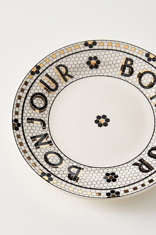 Bistro Tile Bonjour Bread Plates Set Of 4 Plates Rustic