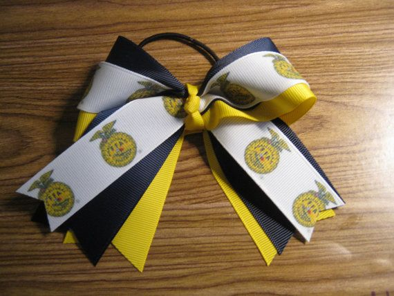 FFA Logo Hair Bow by NotAnotherHairBow on Etsy, $8.00