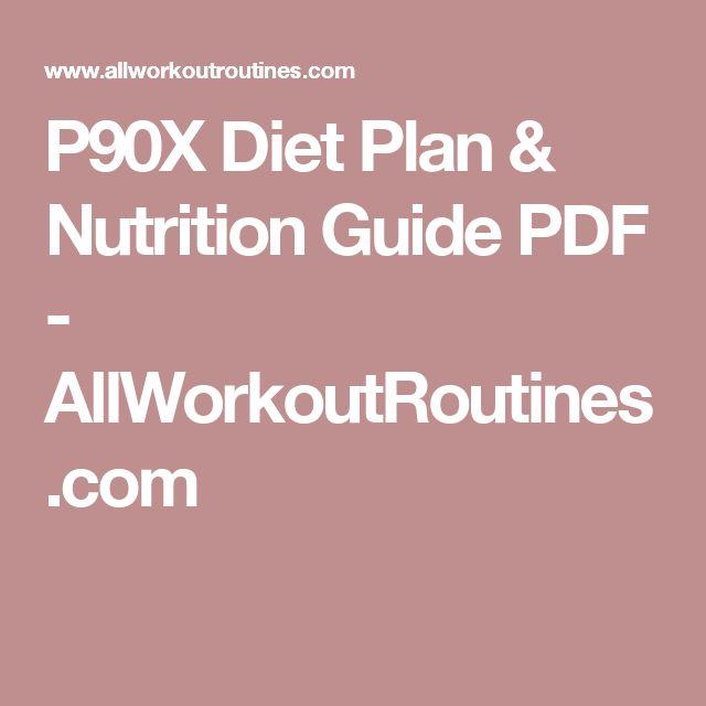 P90X Diet Plan & Nutrition Guide PDF - AllWorkoutRoutines.com