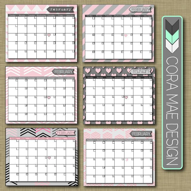 Free Printable Calendar + so much more @Corey . Mae Design