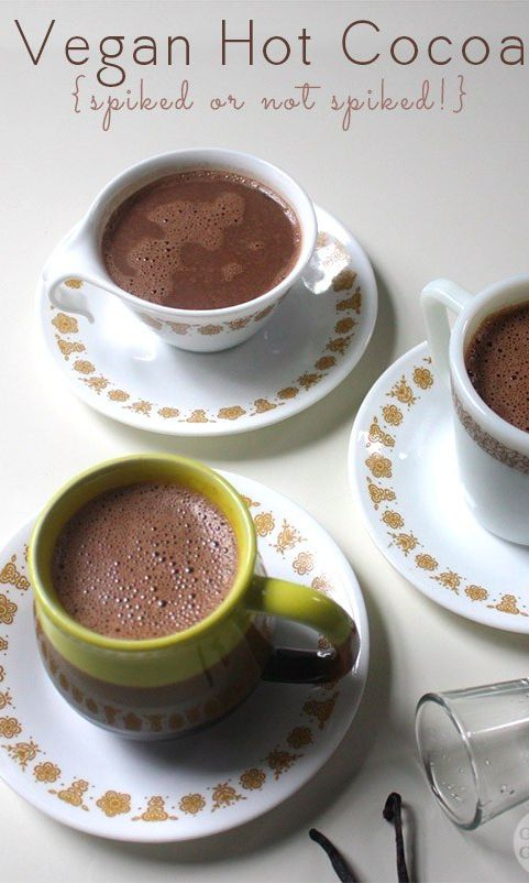 I love treating myself to a decadentvegan hot cocoa on a chilly evening!