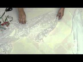 Люневильская вышивка.Как сшить платье с эффектом обнаженного тела на перегибистую фигуру. - YouTube