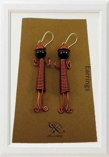 Diseño de pendientes niñas coquetas echo a mano. de rociarte por DaWanda.com