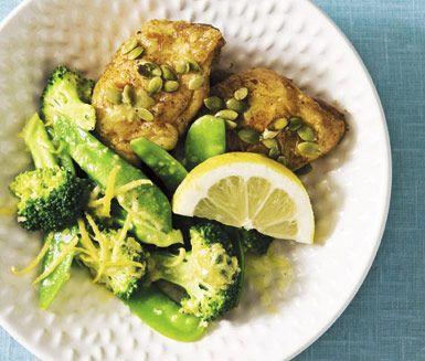 Kyckling och ångade grönsaker