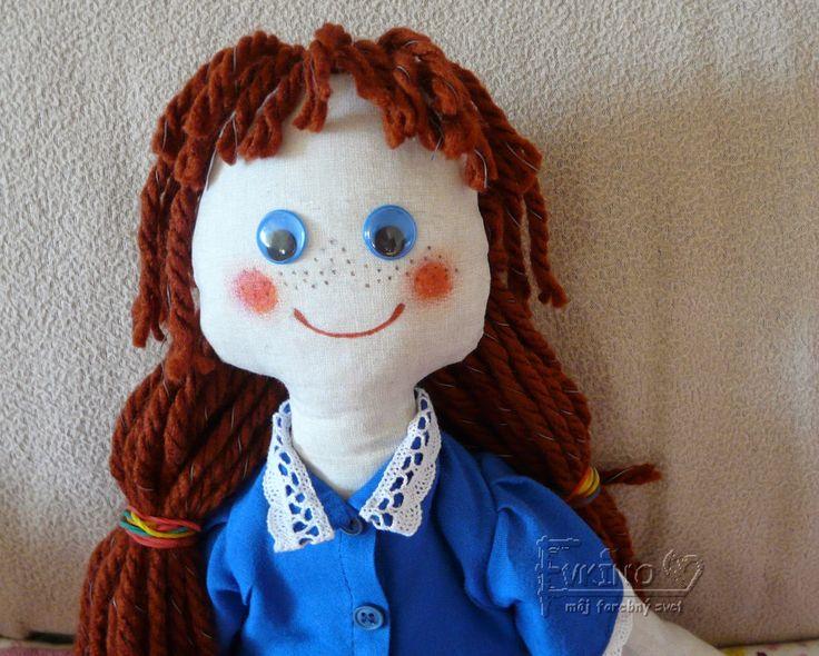 Evkino - môj farebný svet: Šitá bábika pre Agátku