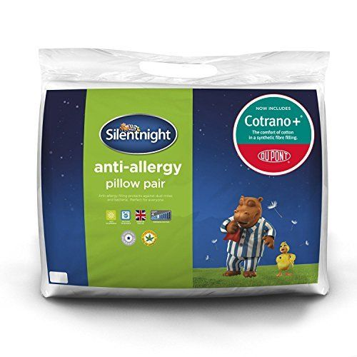 Silentnight Anti-Allergy Pillow - White, Pack of 2: Amazon.co.uk: Kitchen & Home - doesn't have to be these, but anti-allergy so I don't have to listen to as much snoring please!