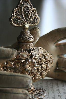 beautiful antique perfume bottle..