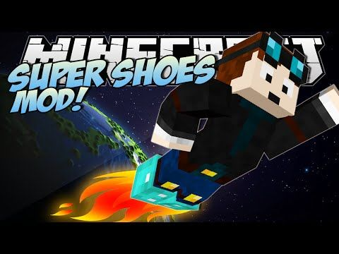 Minecraft | SUPER SHOES MOD! (Jet Boots, Feather Shoes & More!) | Mod Showcase - YouTube