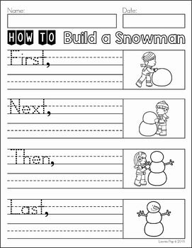 Writing Journal Prompts January. Procedural writing: How to Build a Snowman.