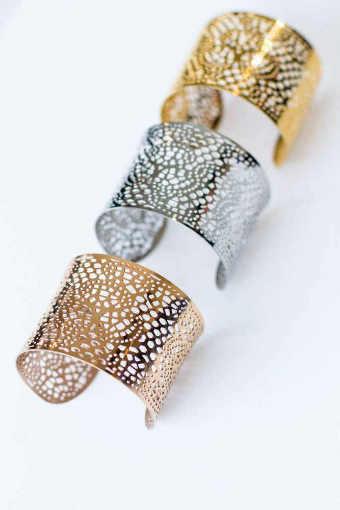 Filigree Cuff   Available in gold, rose gold and silver