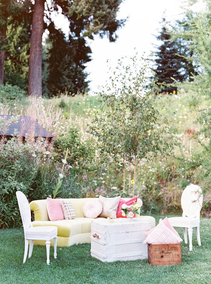 reception lounge - photo by Maria Lamb Photography http://ruffledblog.com/scenic-mt-hood-organic-farms-wedding
