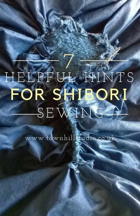 A blog outlining helpful hints for your shibori sewing