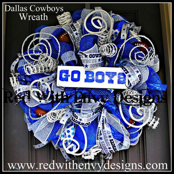Dallas Cowboys Wreath Dallas Cowboys NFL by RedWithEnvyDesigns, $135.00