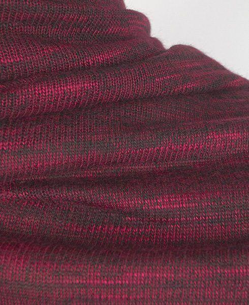 Crimson marled jersey fabric