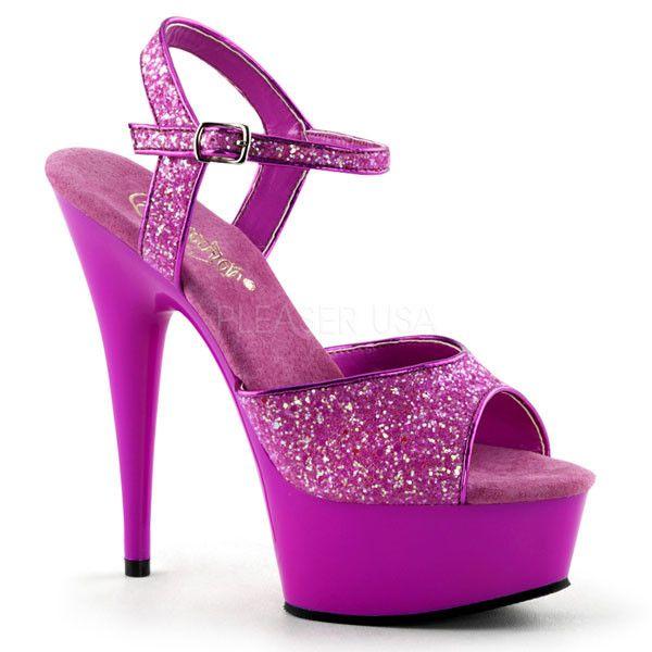 Pleaser DELIGHT-609UVG Platform Sandals