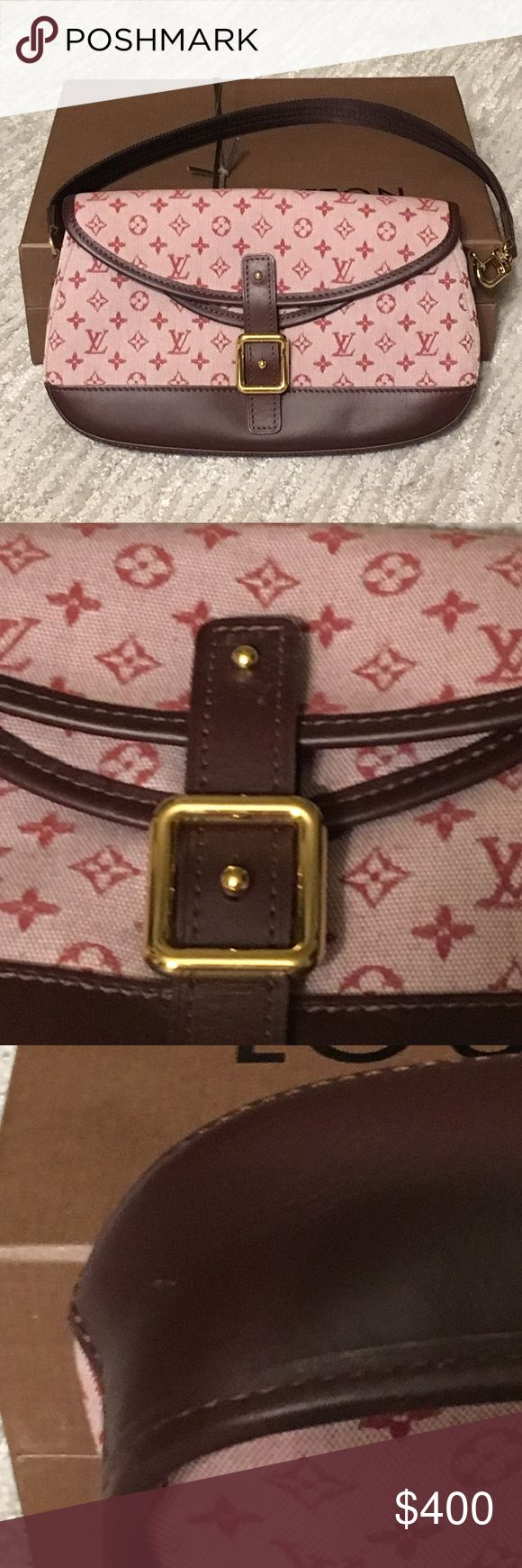 Louis Vuitton monogram canvas Majorie shoulder bag Authentic Louis Vuitton mini monogram Majorie shoulder bag in cherry. In excellent condition. Two scratches as posted in pictures. Comes with original dust bag and box. Louis Vuitton Bags Shoulder Bags