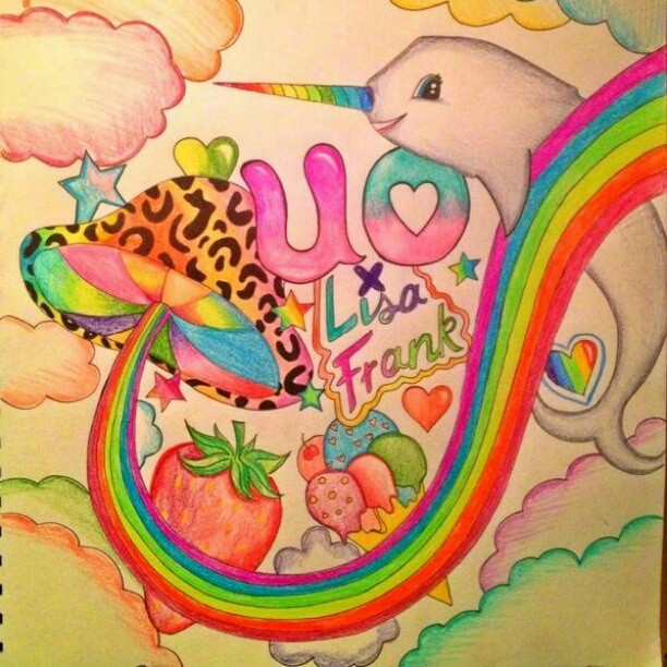 Don't forget to enter our #UOxLisaFrank contest by tweeting us your own LF-inspired illustration! #urbanoutfitters #lisafrank
