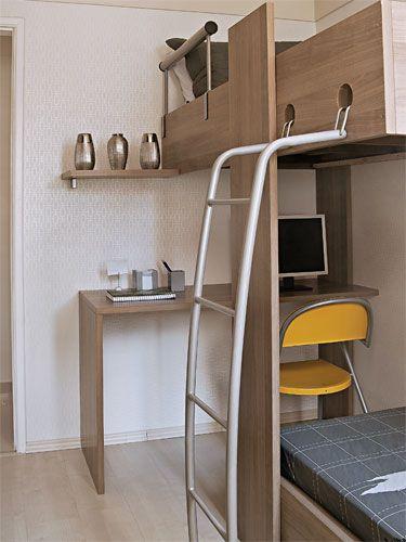 beliche com espaço para computador embaixo