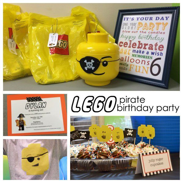 {simple} LEGO Pirate Birthday Party - we celebrated 6 with a fun and very easy Lego Pirate themed party.