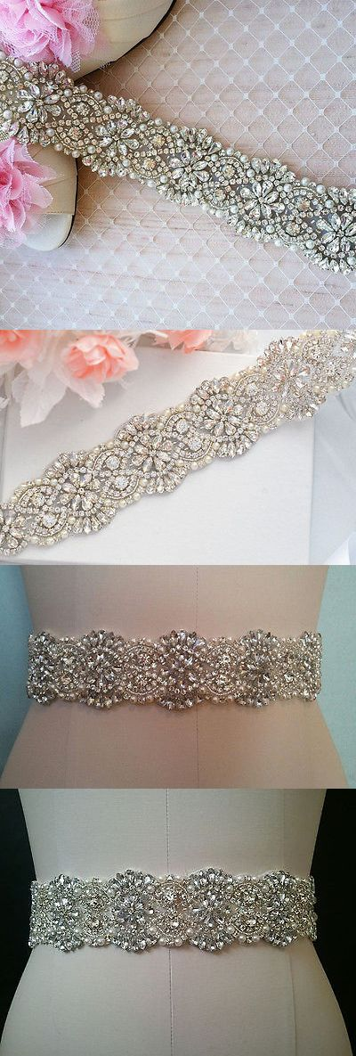 Appliques 146318: Crystal Pearl Wedding Bridal Applique Part = 20 1 2 Inch Long = Diy!! -> BUY IT NOW ONLY: $31.74 on eBay!
