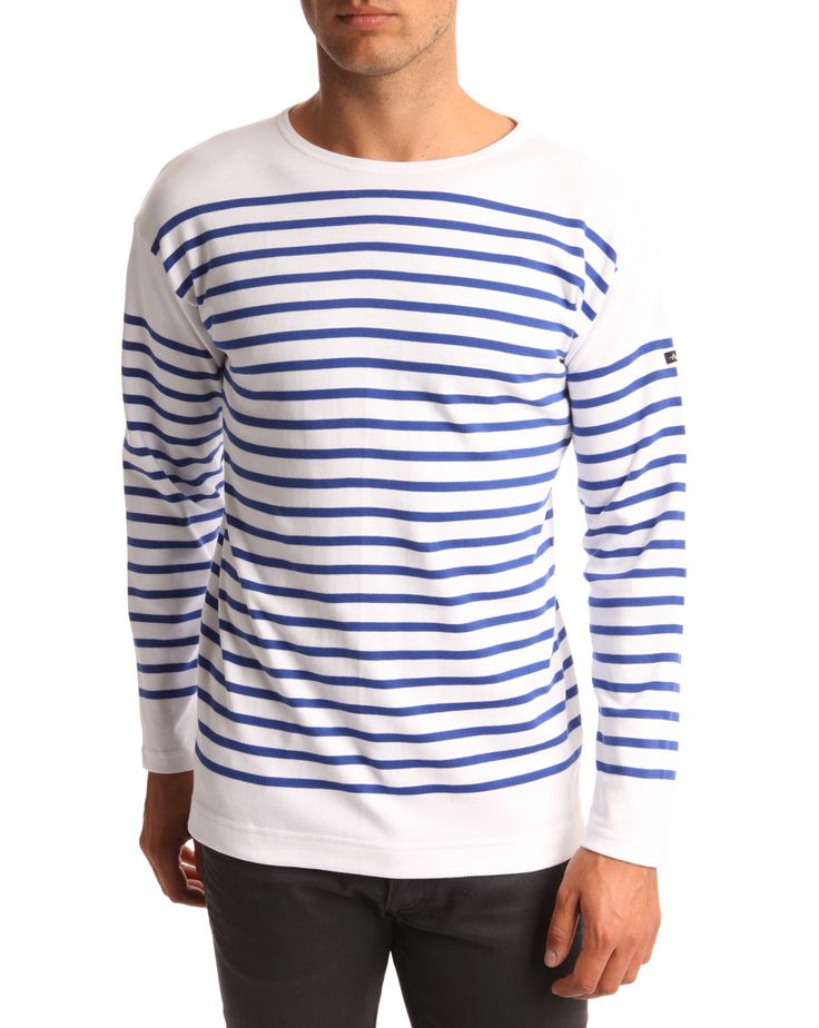 #ArmorLux Amiral HARTFORD Blue and White Smock Top