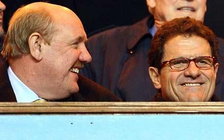 Brian Barwick with Fabio Capello