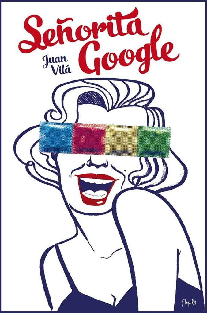 Drawing for Juan Vila's book 'Señorita Google', published by JotDown Books, 2014.