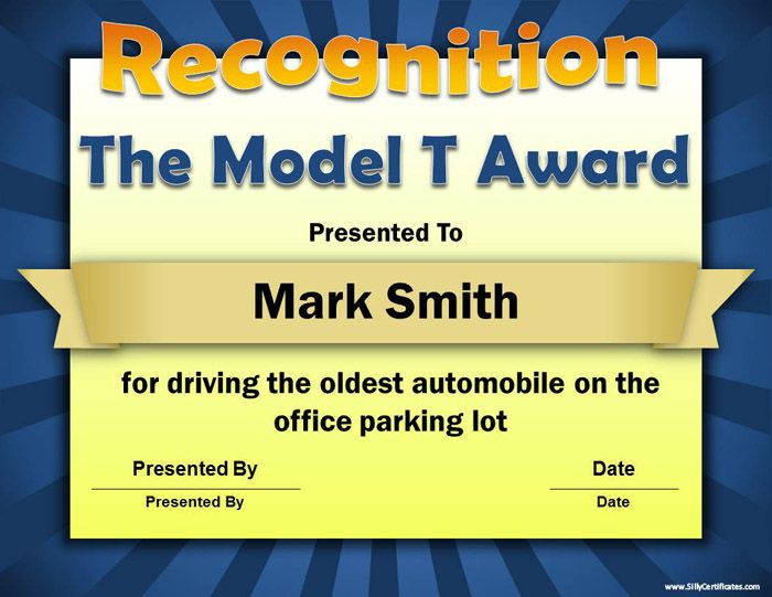 25+ best Employee awards ideas on Pinterest   Funny certificates ...