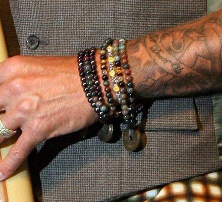 Men's Spiritual Bracelet with Semiprecious Saphire by tocijewelry