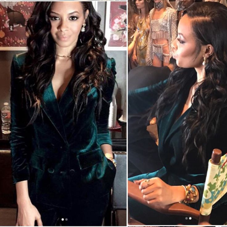 Hollywood actress Vanessa Simmons wearing Mona Shroff Jewellery earrings and cuff for LA fashion week opening ceremony .