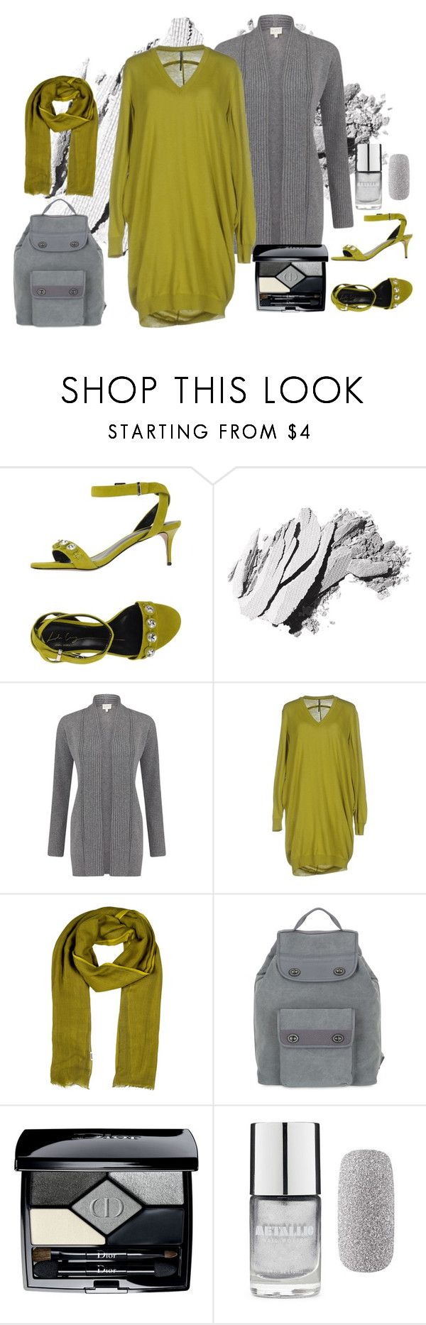 """Pistacchio & ash grey"" by vanya-rosario-guidi ❤ liked on Polyvore featuring Lola Cruz, Bobbi Brown Cosmetics, EAST, Liviana Conti, Hermès, Mandarina Duck, Christian Dior, Forever 21, Ashgrey and pistacchio"