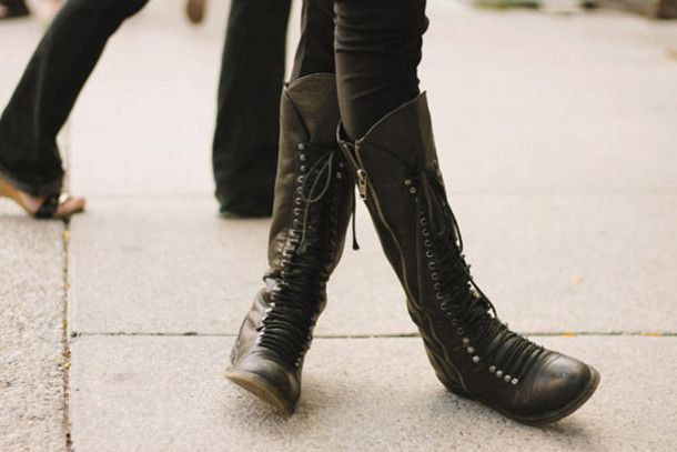 Shoes: combat boots, black combat boots, cool girl style, boots ...