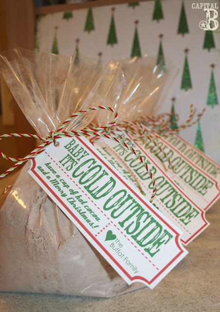 Hot cocoa neighbor gift with downloadable tag