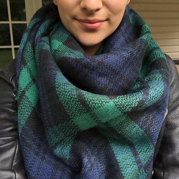 Accessories - Green Plaid Tartan Blanket Scarf