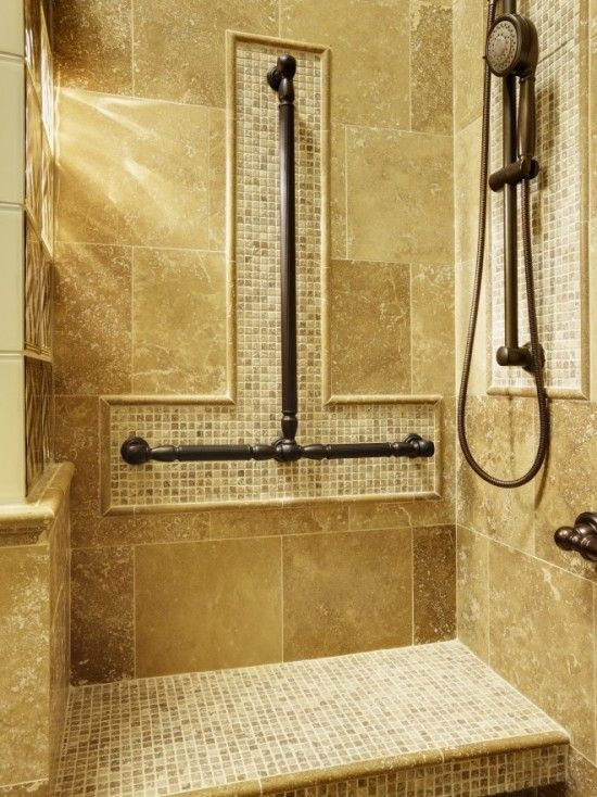 65 best senior bathroom images on pinterest bathrooms for Bathroom designs for seniors
