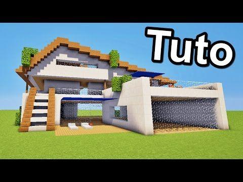 Maison moderne minecraft images for Tuto maison moderne minecraft