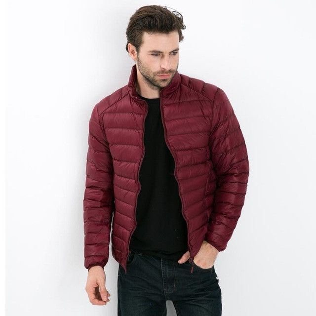 2016 Autumn Winter Duck Down Jacket, Ultra Light Thin plus size winter jacket for men Fashion mens Outerwear coat