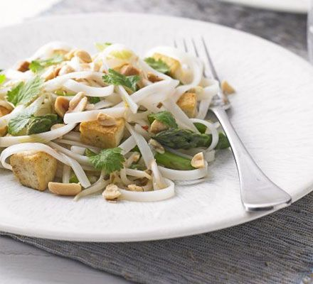 Tofu & asparagus pad Thai A vegetarian, superhealthy alternative to the ever popular pad Thai  Go to MuscleandMotion.com to download the free version of the 3D Muscle Anatomy & Strength Training Video Program – uniquely designed for Students, Personal Trainers, Therapists, Athletes, and Teachers.