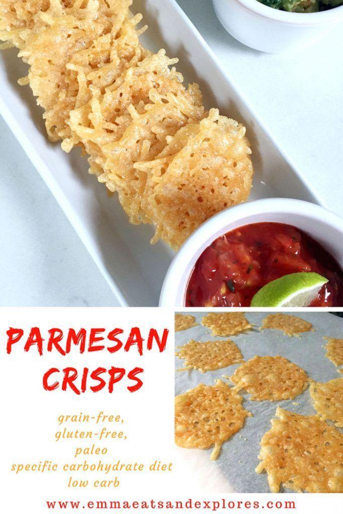 Parmesan Crisps by Emma Eats & Explores - SCD, Paleo, Grainfree, glutenfree, Low Carb, LCHF, SugarFree