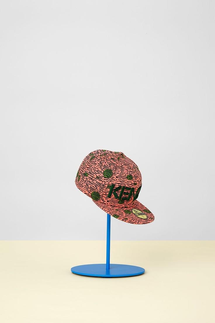 "Kenzo New Era Cap Spring 2013, Pink ""spotted zebra"" print"