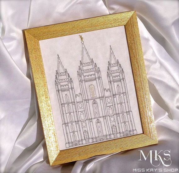 Salt Lake Temple - Cross Stitch Pattern by MissKaysShop on Etsy  $9.99 • Check out the Facebook page for Miss Kay's Shop ---> www.facebook.com/MissKaysShop