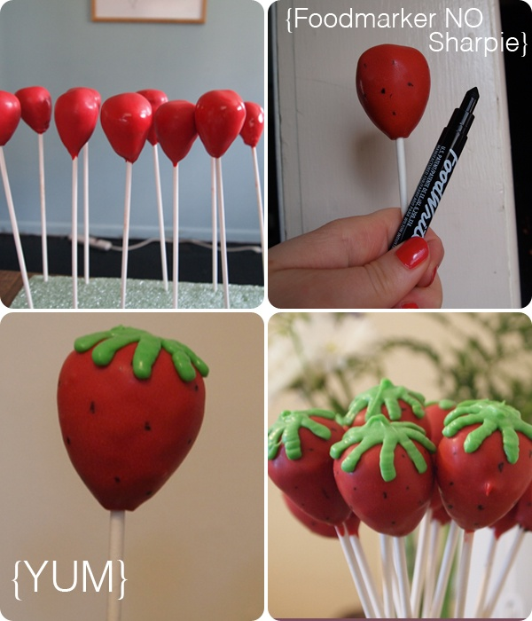 • Strawberry cake pops: Strawberry Cakes, Strawberries Pop, Cakes Ideas, Birthday Parties, Strawberries Cakes Pop, Strawberries Cakepops, Strawberries Fields, Strawberry Cake Pops, Strawberries Shortcake