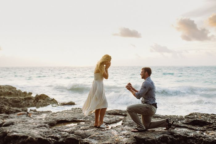 This seaside Tulum Beach proposal is engagement goals  | Image by  Conie Suarez Bravo Ph