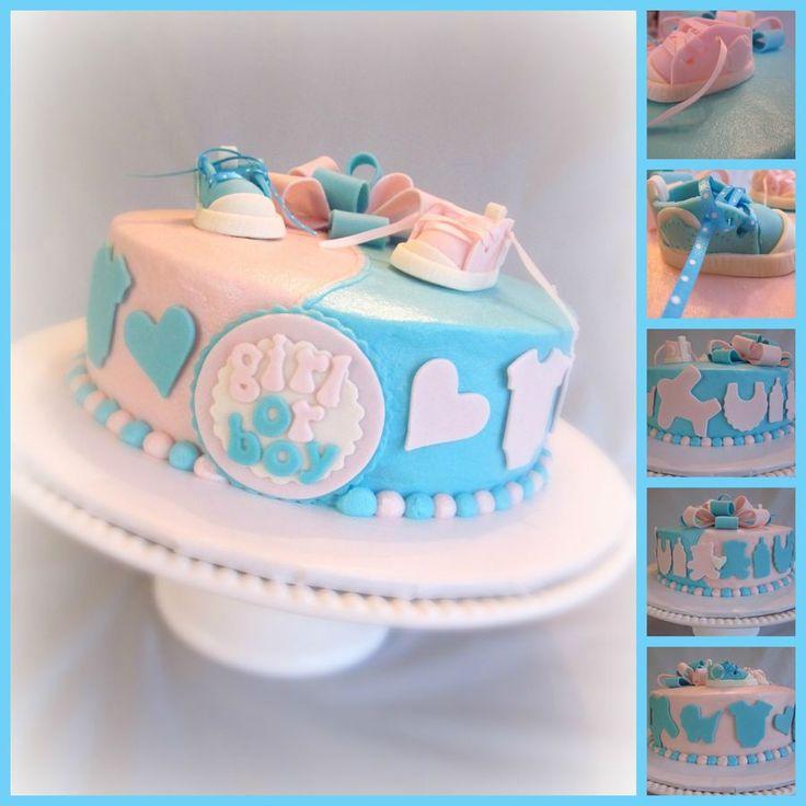 Gender Reveal Cake Baby Shower Baby Shower Cakes Baby Shower